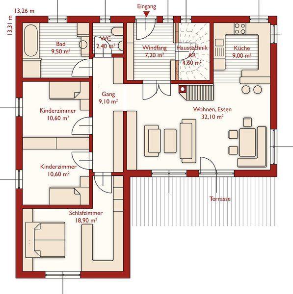 Alaprajz - Planum 82m2-től - készház, készházak, kész ház, készház - plan 3 k che