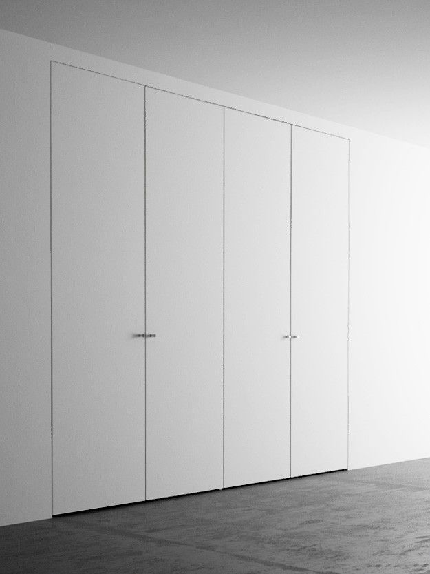 Armadio A Muro 4 Ante Cm 220x260 Wall Cupboards Invisible Doors