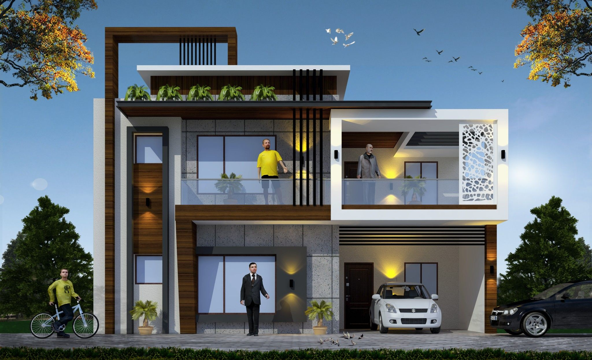 Pin by Arya 3d on 3d elevation in 2019 | Duplex house ...