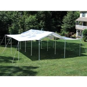 Shelterlogic Max Ap 10 Ft X 20 Ft 2 In 1 White Canopy With Extension Kit 23530 At The Home Depot Canopy Tent Outdoor Canopy Outdoor Canopy Tent
