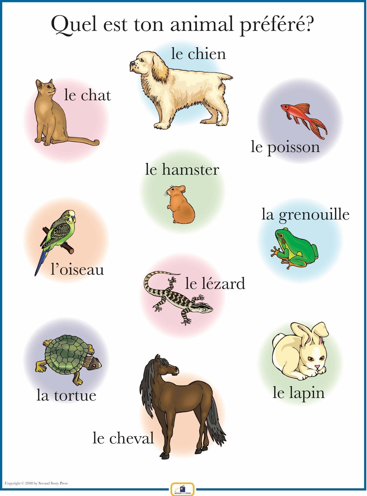 french pets poster language worksheets and spanish language. Black Bedroom Furniture Sets. Home Design Ideas
