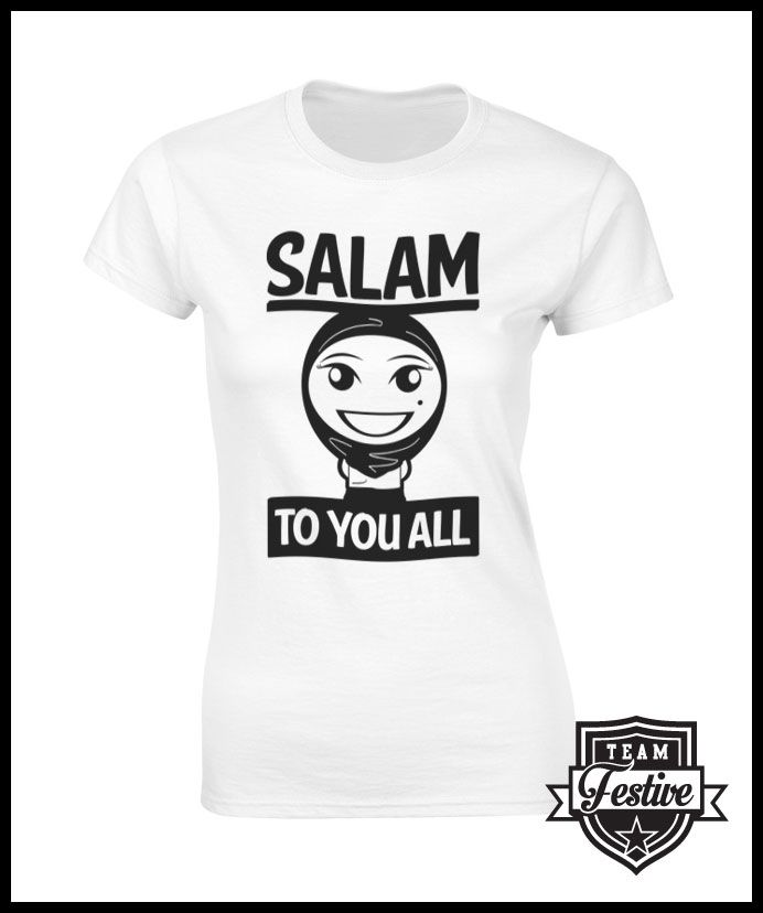 b3846f74998c T-shirt design sending its salam to all. | Muslim T-shirts | Shirts ...