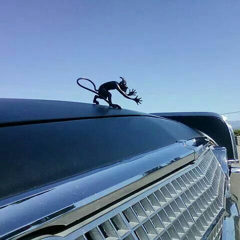 'Pan' hood ornament on 63 Lincoln Continental.