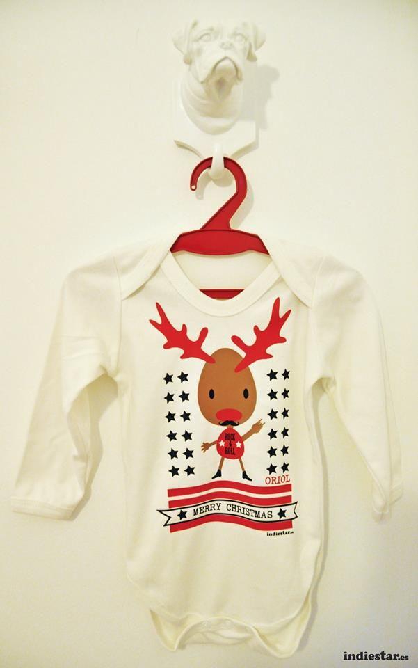 Diseño Body bebe con motivos navideños por Indiestar vinilos