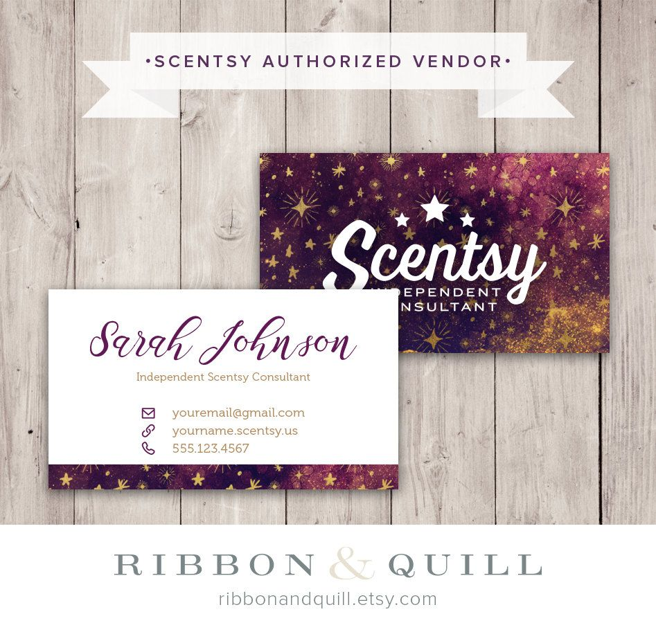 Scentsy Galaxy Business Card Appreciation cards, Scentsy