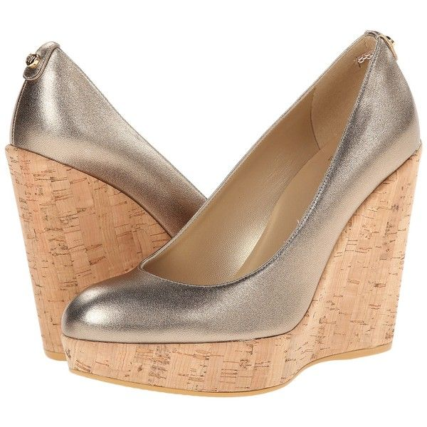 Stuart Weitzman Corkswoon (Ale Washed Nappa) Women's Wedge Shoes ($200) ❤  liked