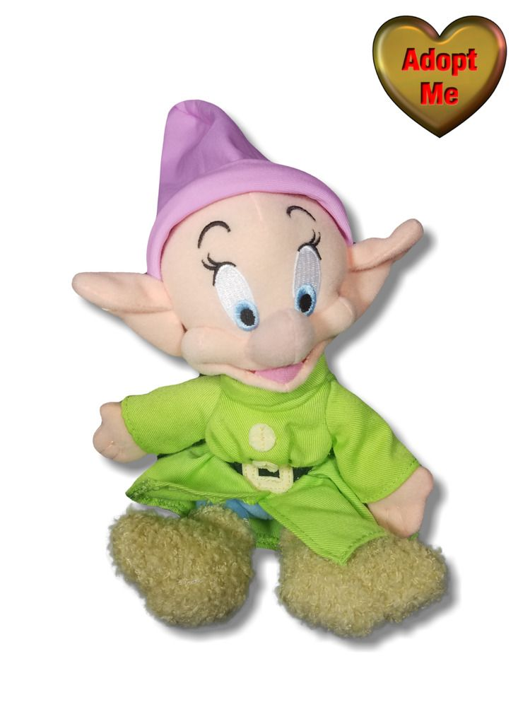 56f43d69e7 Disney Snow White Dwarf Dopey Stuffed Plush Character Doll 8in ...