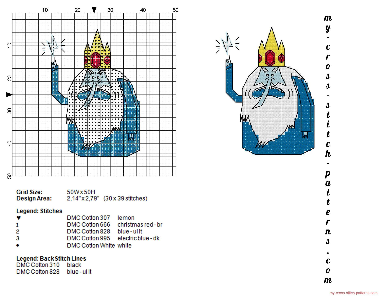 Ice King Adventure Time cross stitch pattern - 2448x1904 - 937121 ...