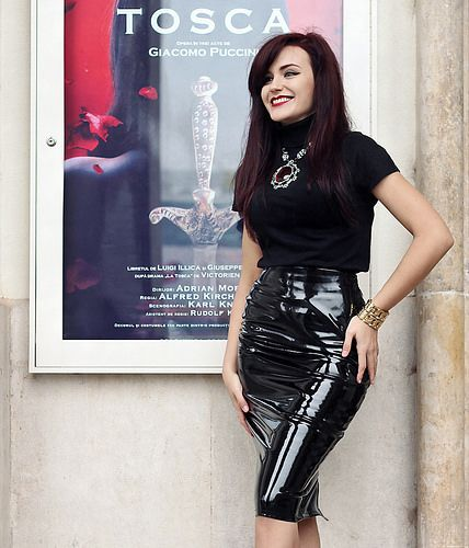 IMG_3428 Sexy pvc vinyl shiny skirt | por Leather fashion ...