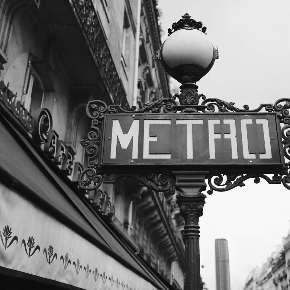 2.18 Paris has the best Metro signs.  #TBT #paris #metro #blackandwhite #365project #canon # by shaneadams