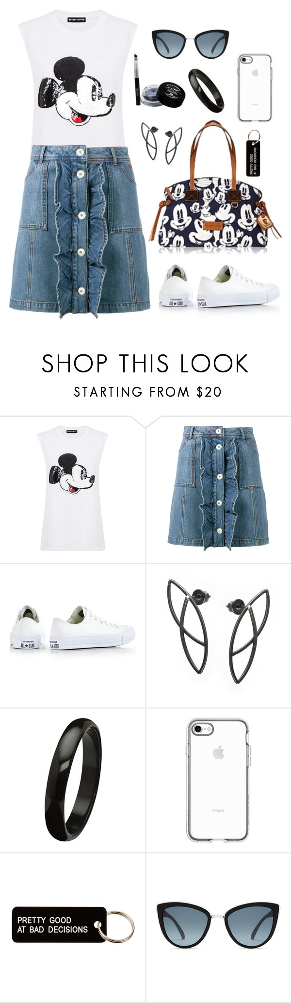 """Untitled #2135"" by ebramos ❤ liked on Polyvore featuring Markus Lupfer, Ganni, Converse, Various Projects and Topshop"