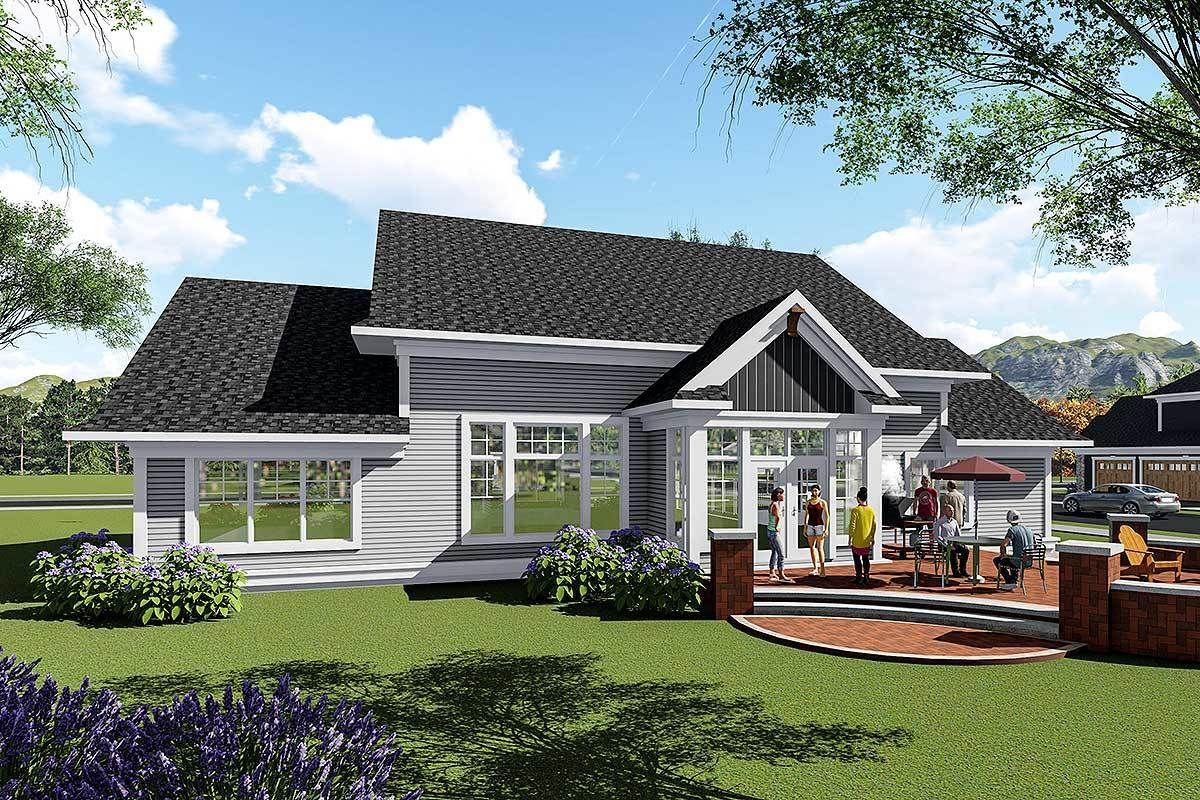 Plan 890057AH Split Bedroom Craftsman House Plan House