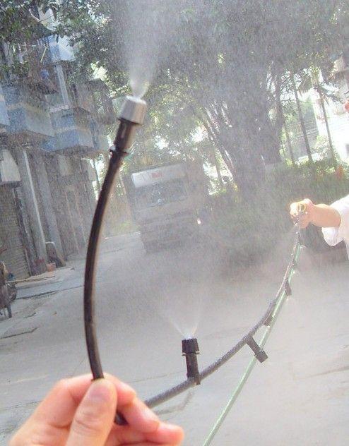Aliexpress Com Buy 10m 33 Outdoor Garden Patio Misting Cooling System 10 Plastic Mist Nozzles Garden I Garden Irrigation System Irrigation Irrigation System