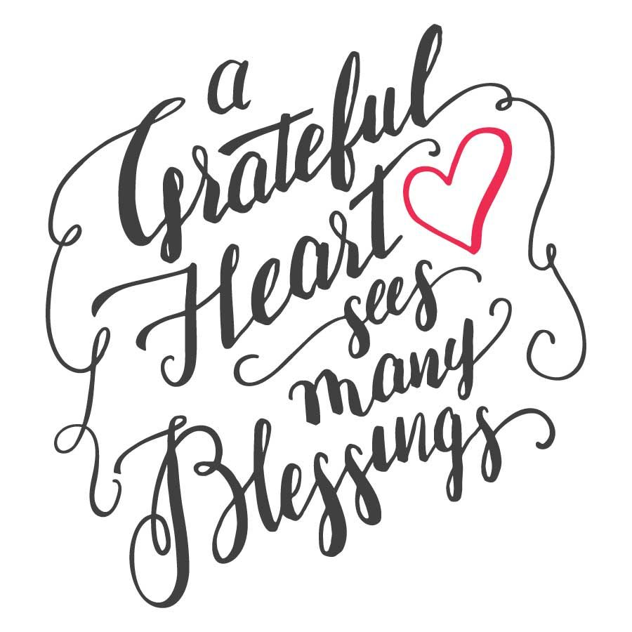 A Grateful Heart Sees Many Blessings - Positopia.com