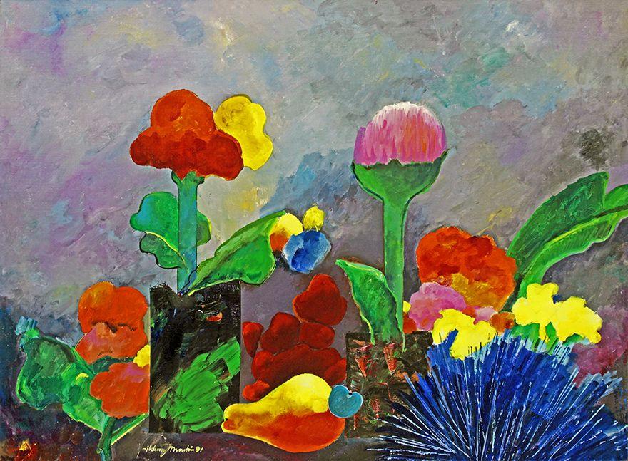 Espaço Arte M. Mizrahi  Flores e caju Artista (Ver biografia)     Aldemir Martins (1922 - 2006)