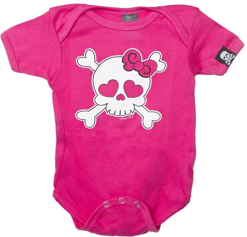 Pink Skull Onesie Kids outfits