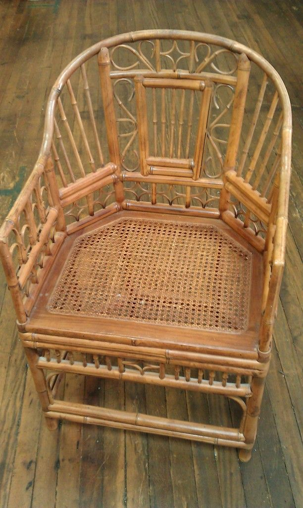Gorgeous Antique Bamboo Chair! Add A Graphic Element To Your Room With This  Stunning Occasional