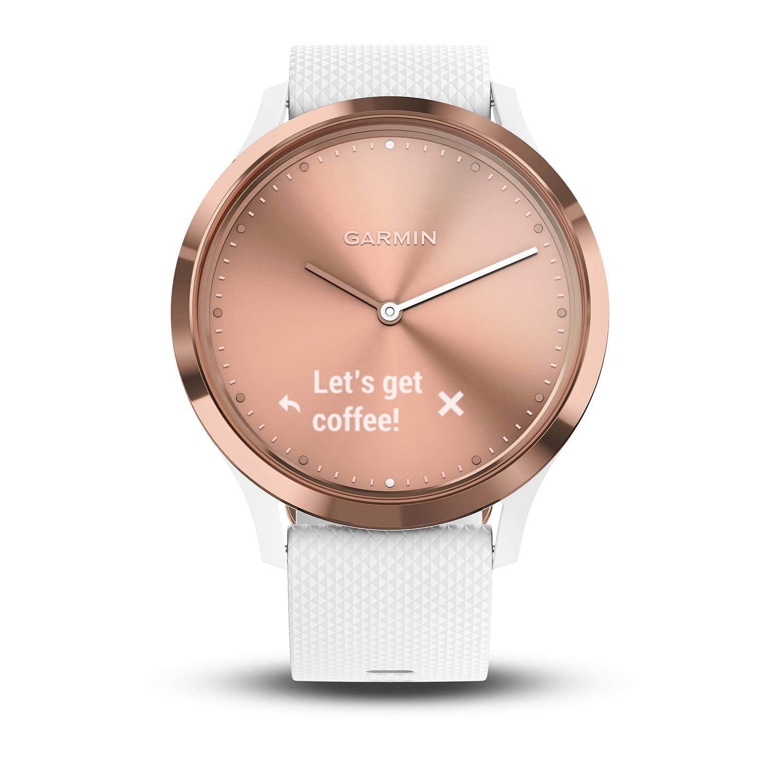 Garmin Vivomove Hr Sport Rose Gold Small Medium Hybrid Smartwatch Bundle Includes Hd Screen Protectors X2 A Smart Watch Rose Gold Watches Smartwatch Features