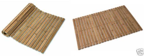 Bamboo Duck Board Wooden Natural Wood Bathroom Oval Rectangular Shower Bath Mat Ebay Wood Bathroom Shower Bath Mats Natural Wood