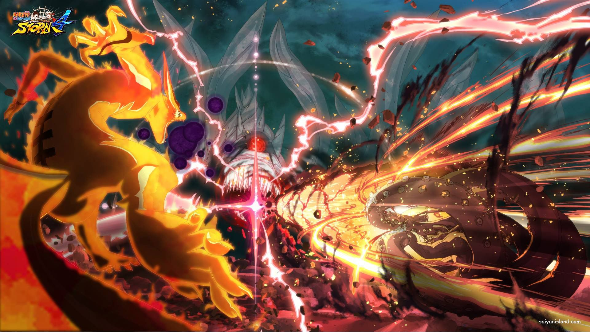 Naruto Storm 4 Eight Nine Tails Vs Ten Tails Art Android Wallpaper Anime Wallpaper Naruto Shippuden Anime Wallpaper
