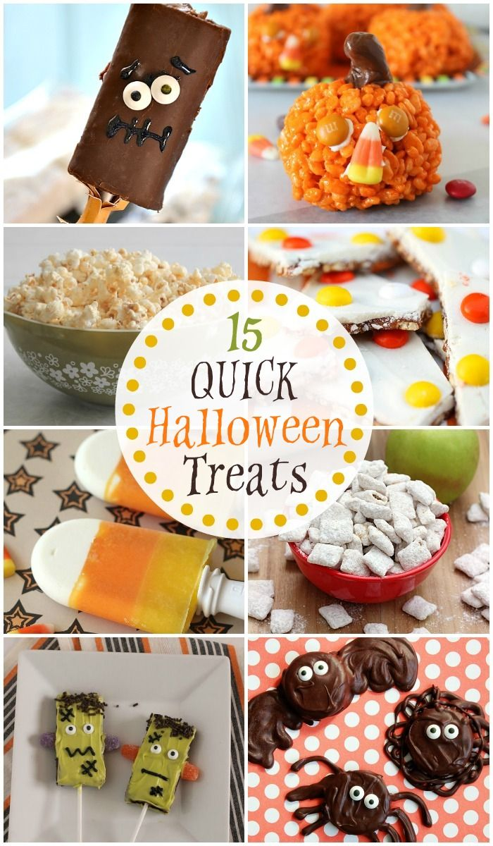 15 QUICK Halloween Treats | Halloween treats, Halloween ideas and ...