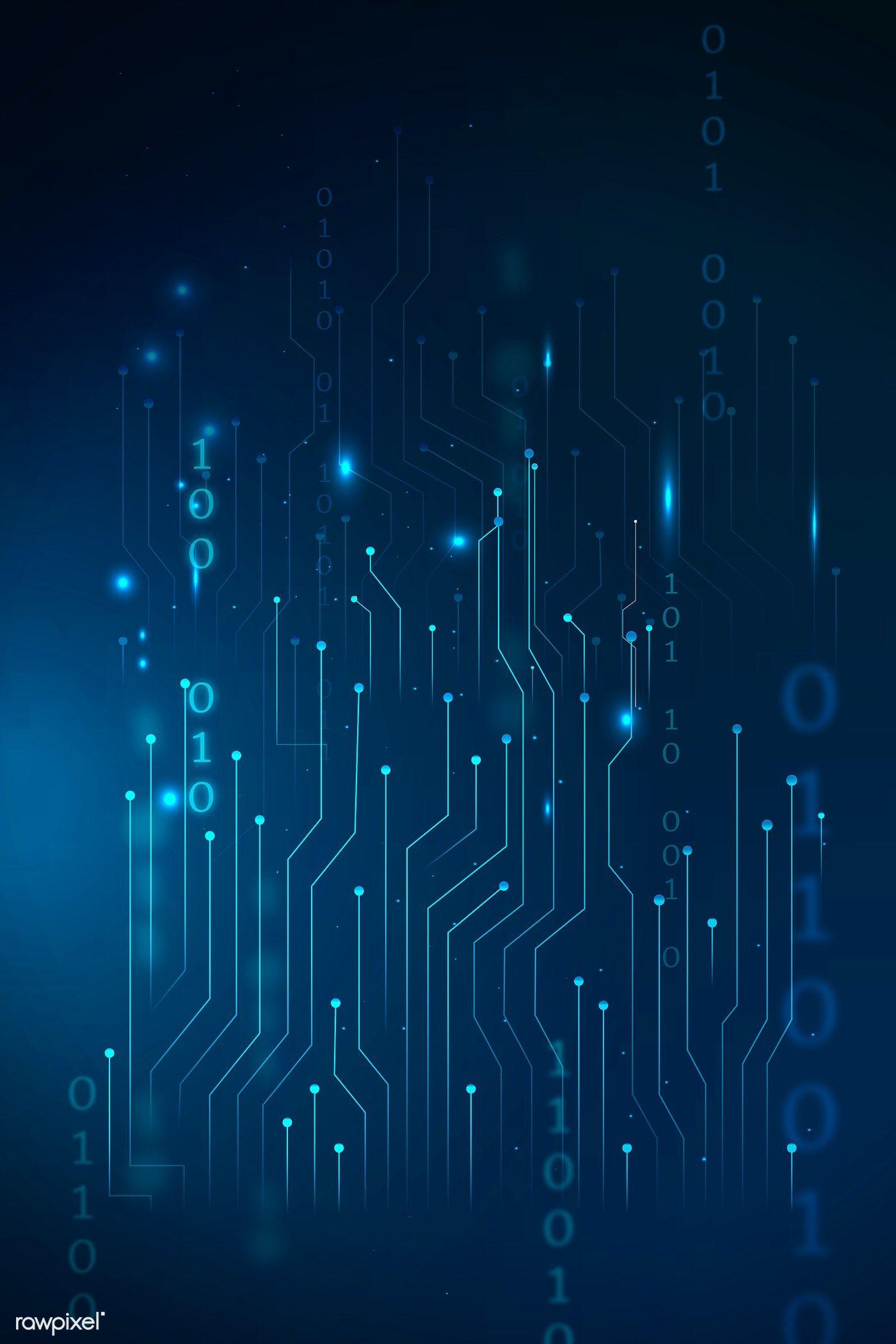 Download premium vector of Blue futuristic networking