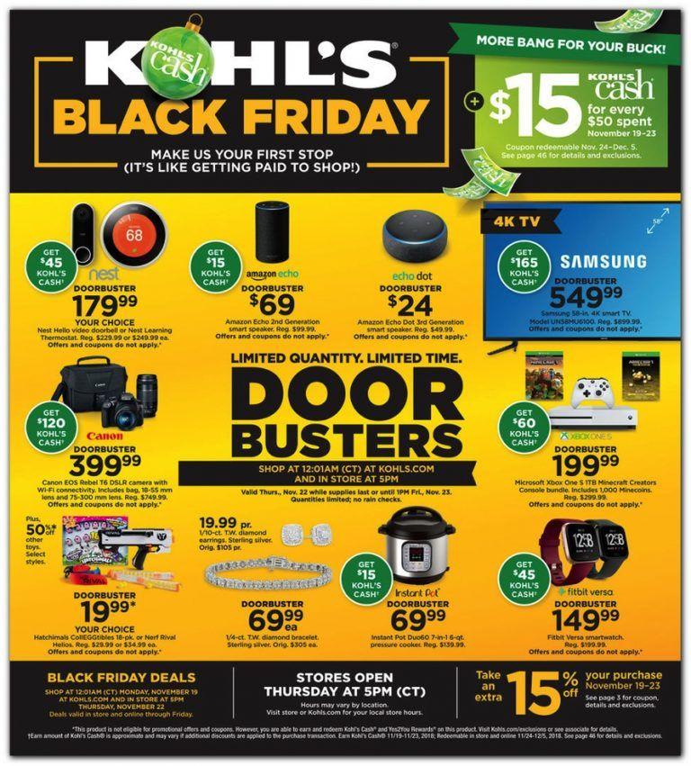 Kohl S 2018 Black Friday Ad Kohls Black Friday Black Friday Ads Jcpenney Black Friday