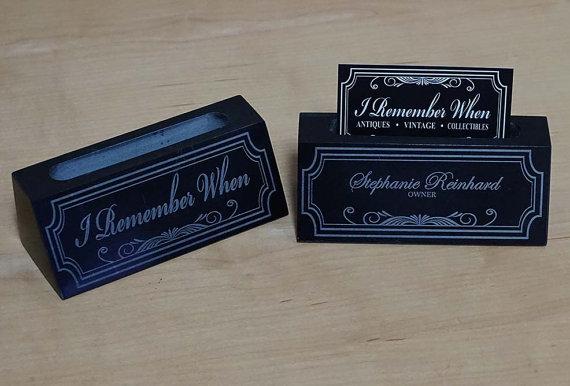 Custom Business Card Holder Custom Desk Accessories Laser