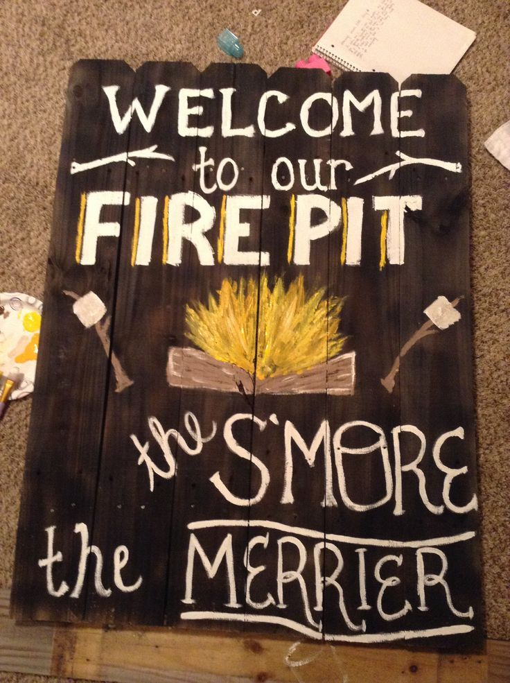 firepit signs - Google Search - Firepit Signs - Google Search Signs Pinterest Backyard, Fire