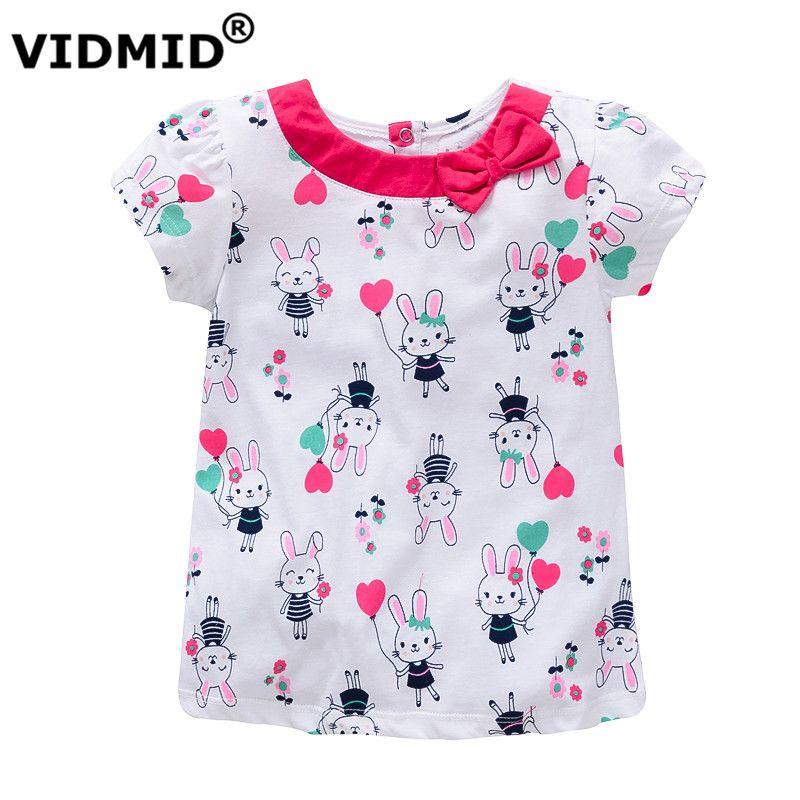 Encontrar Más Camisetas Tees Información acerca de Vidmid camiseta del bebé  ropa de verano para niñas niños camisetas niños camisas de las muchachas ... 10665d98d5a