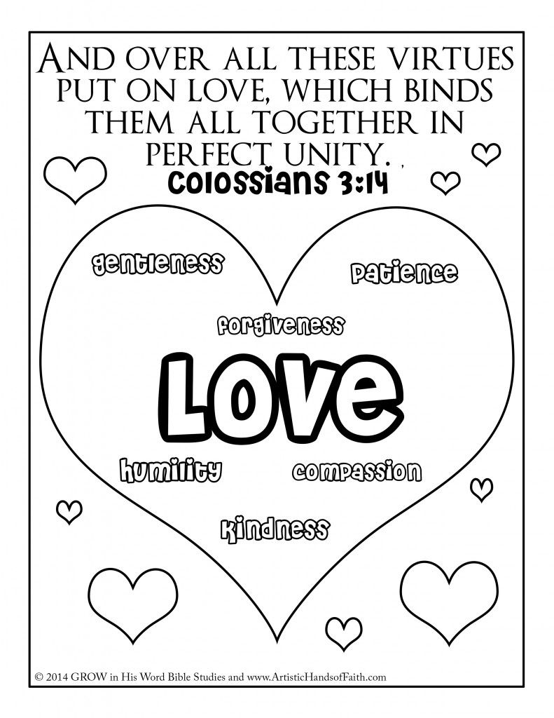 Colossians 3 14 Printable Bible Coloring Pages