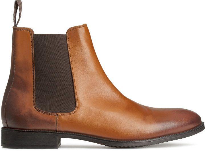 H\u0026M - H\u0026M - Leather Chelsea Boots