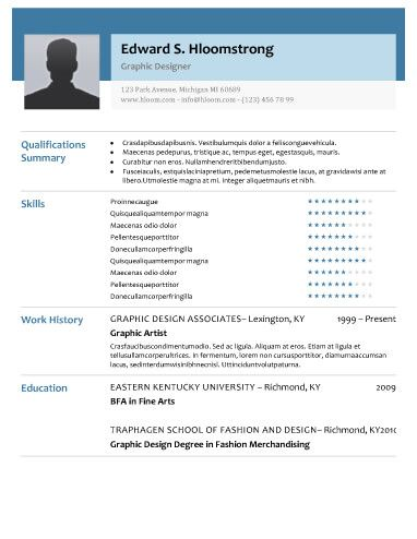 Glimmer Resume Template Work/Business Pinterest Google doc