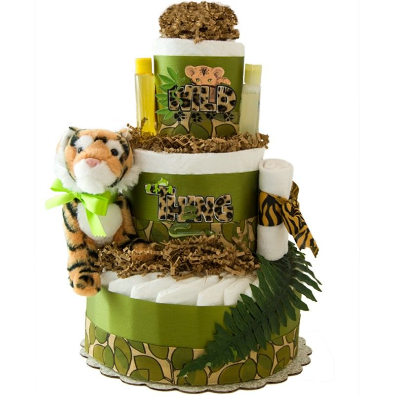 Wild Thing 3 Tier Diaper Cake Wild Things Diapers And Baby