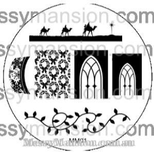 Messy Mansion Image Plate MM01
