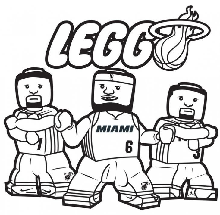 Turn Up The Heat With Miami Heat Coloring Pages