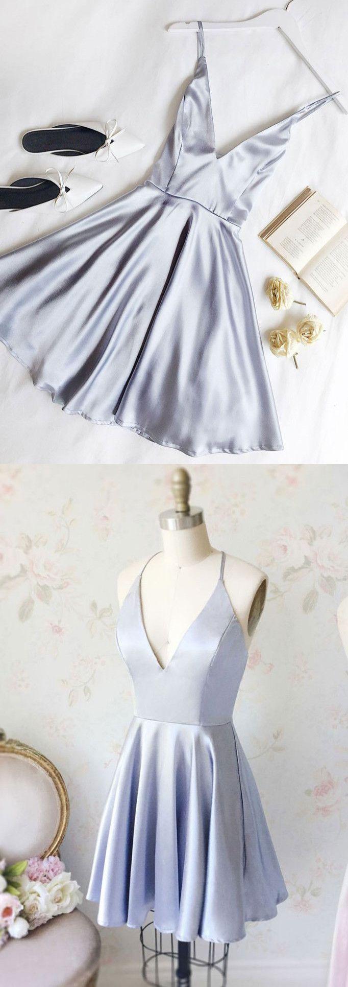 chic aline v neck homecoming dresses short prom dress simple