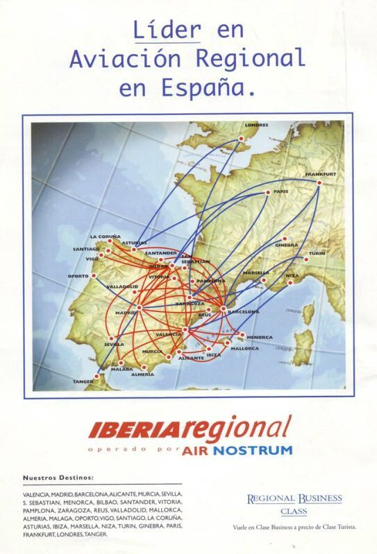 Iberia Regional Air Nostrum Route Map | Iberia | Spain, Map on taca route map, biman route map, air china international route map, aegean route map, lufthansa route map, island air route map, independence air route map, ba cityflyer route map, europe by air route map, s7 route map, eastern air lines route map, luxair route map, air niugini route map, houston route map, tiger air route map, saudia route map, xl airways route map, royal jordan route map, ethiopian air route map,