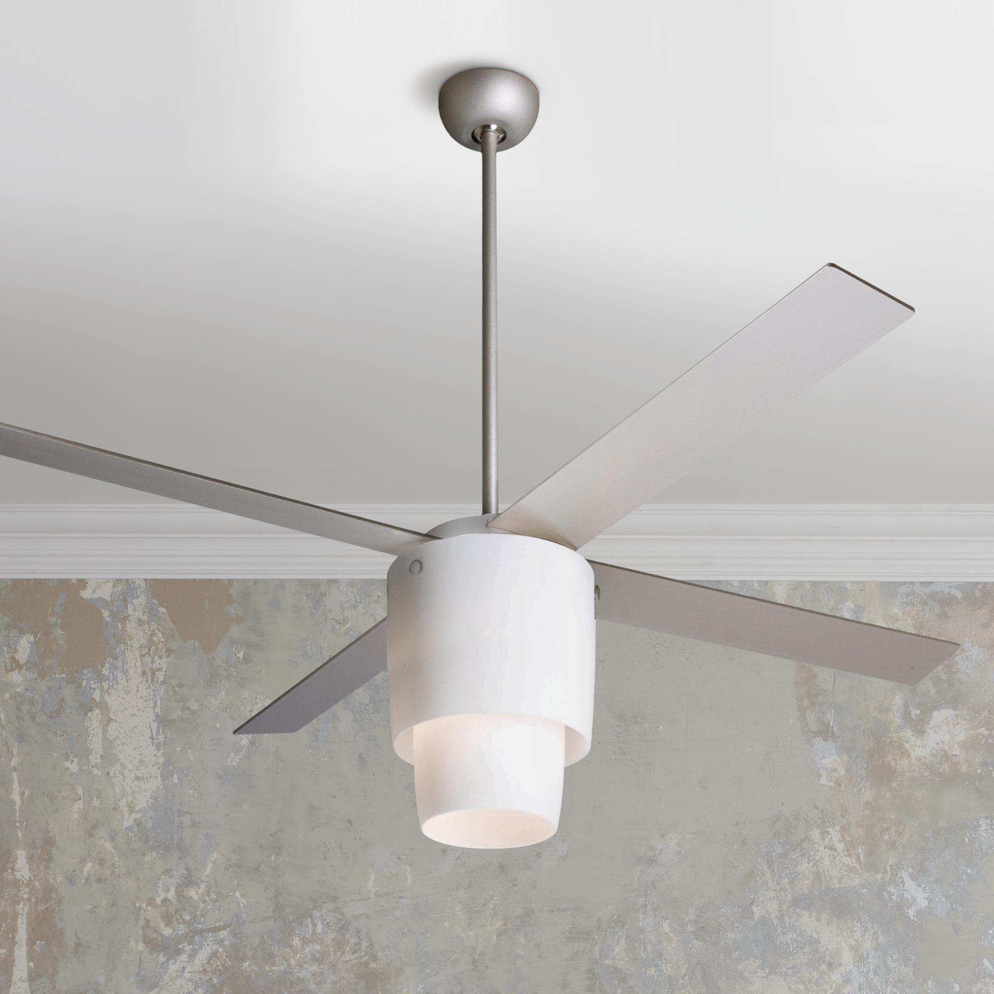 52 Modern Fan Halo Nickel Opal Light Ceiling