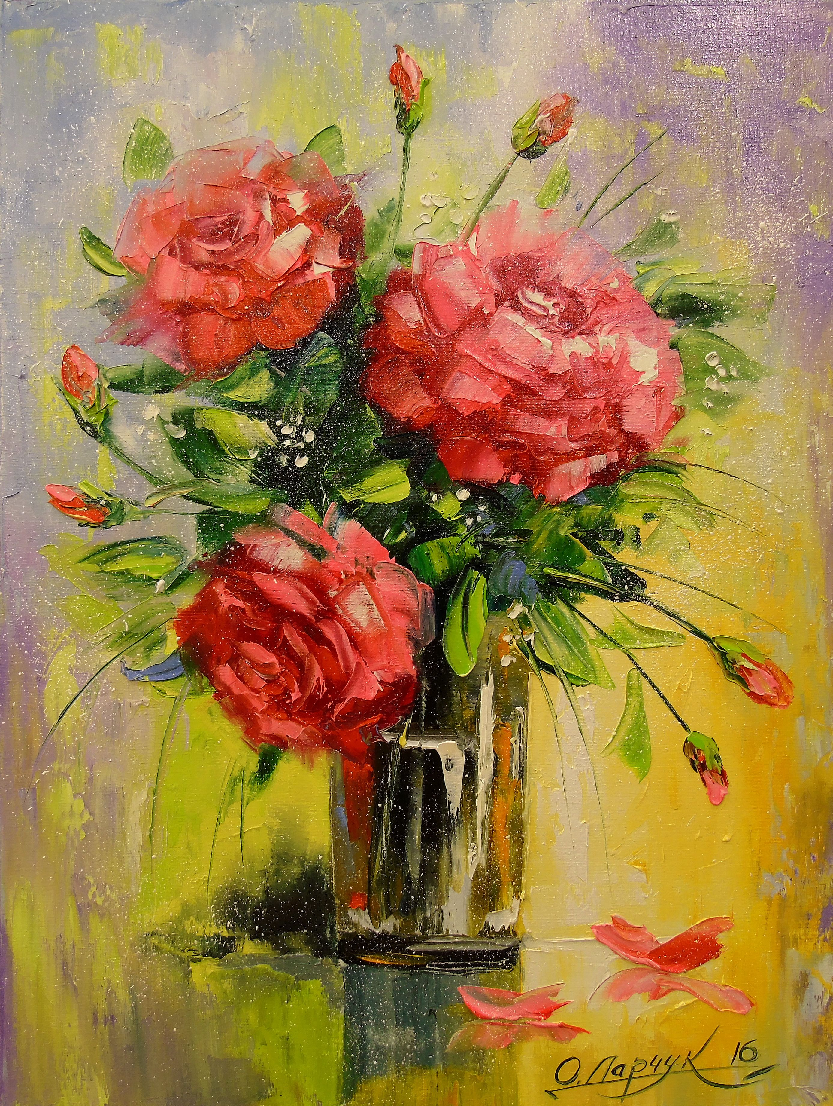 View Bouquet Of Roses By Olha Darchuk Browse More Art For Sale At