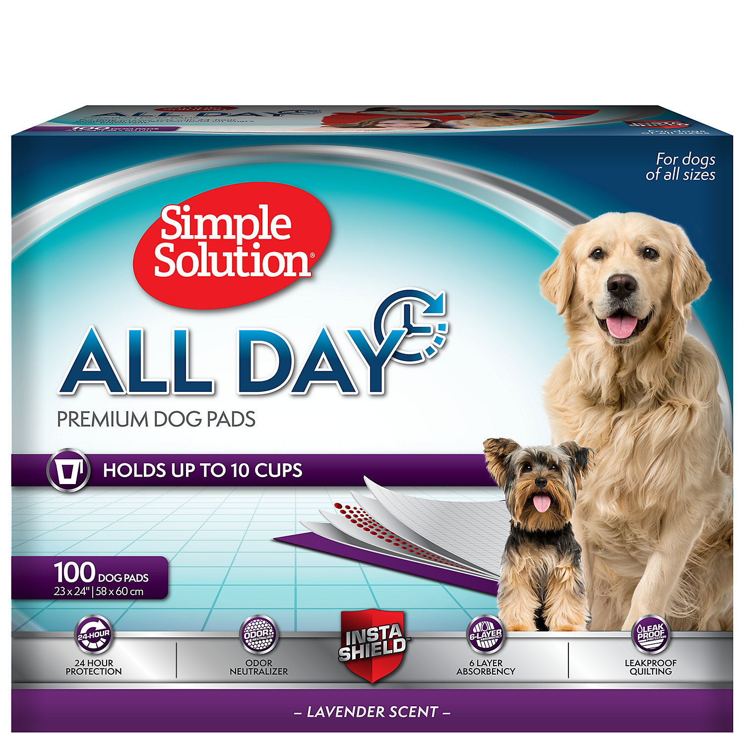 Simple Solution 6 Layer All Day Premium Dog Pads Count Of 100