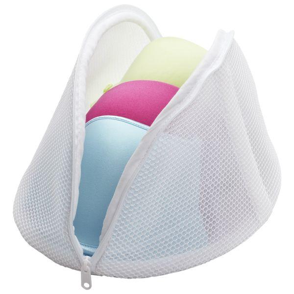 Large Micro Mesh Bra Wash Bag White