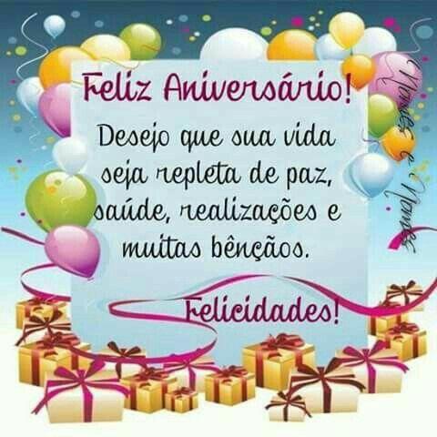 Feliz Aniversário e muita paz!