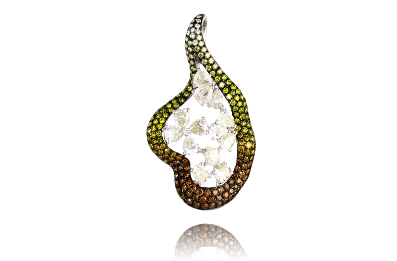 Fancy Diamond Free-Form Pendant