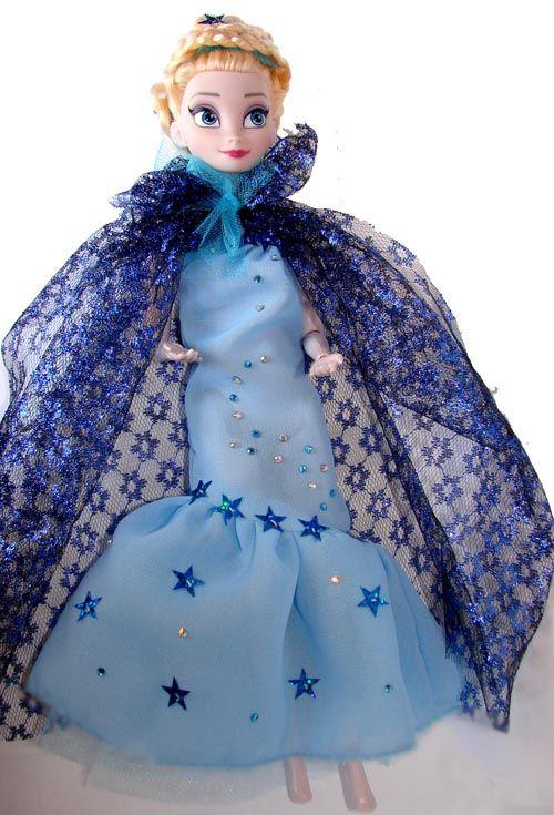 Как сшить платье кукле эльзе из холодного сердца