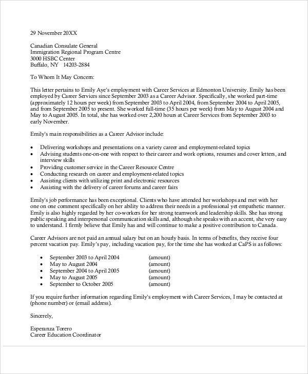 Reference Letter Sample For Canada Immigration 11 Reference Letter Sample For Canada Imm Personal Reference Letter Writing A Reference Letter Reference Letter