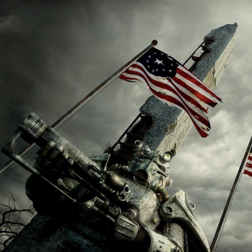 Brotherhood Of Steel Paladin And The Washington Monument Fallout