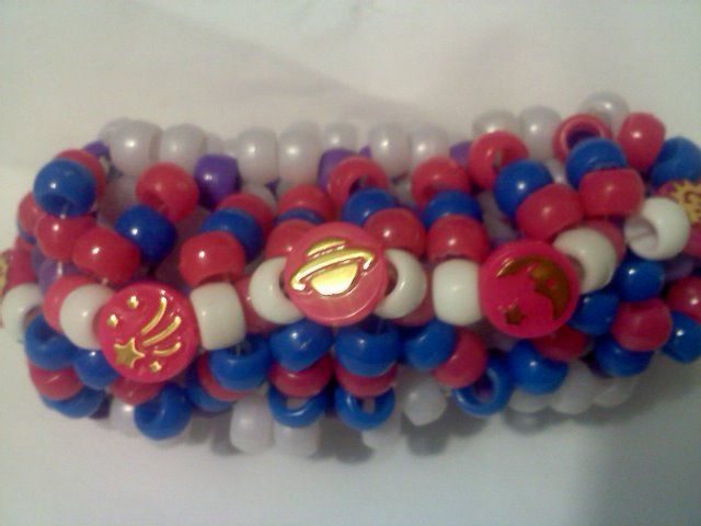Use the code pinit and receive an extra 10% off price.. (even on sale items)  Blue Rave UFO Cuff Kandi Bracelet Celestial Beads [bl_Pnk_uof] - $10.95 : kandi, Raver do it ...so can you