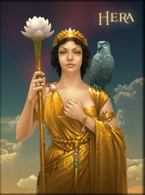 716b2def7 Hera/Juno- Greek myth: the goddess of wisdom, marriage, and childbirth.  queen of Olympus, wife of zeus.