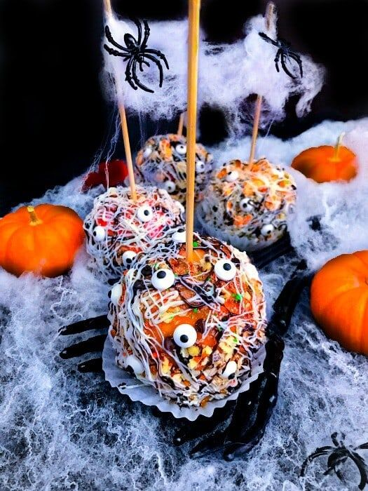 graveyard candy apples gourmet halloween treat spooktacular and delicious halloween treat thats easy and - Gourmet Halloween Recipes